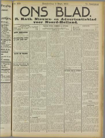 Ons Blad : katholiek nieuwsblad voor N-H 1913-09-11