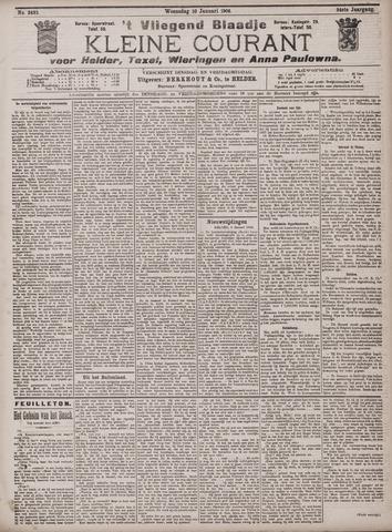 Vliegend blaadje : nieuws- en advertentiebode voor Den Helder 1906-01-10