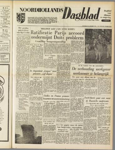 Noordhollands Dagblad : dagblad voor Alkmaar en omgeving 1954-11-22