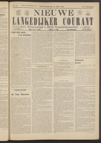 Nieuwe Langedijker Courant 1932-05-19