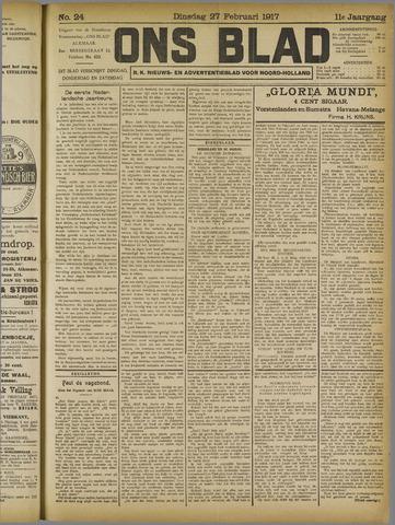 Ons Blad : katholiek nieuwsblad voor N-H 1917-02-27