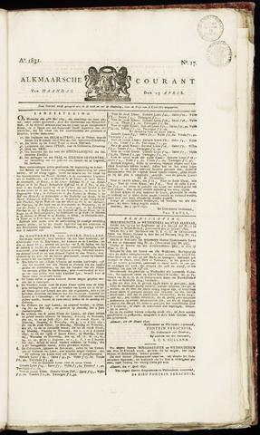 Alkmaarsche Courant 1831-04-25