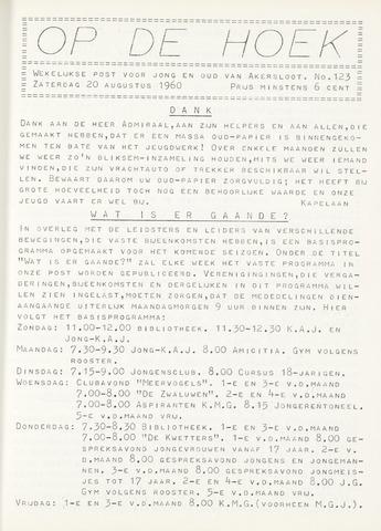 Op De Hoek, weekblad voor Akersloot 1960-08-20