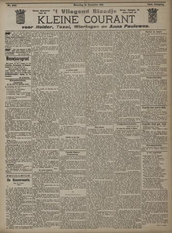Vliegend blaadje : nieuws- en advertentiebode voor Den Helder 1906-12-24