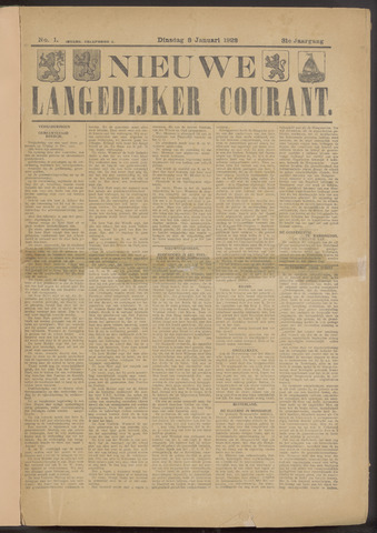Nieuwe Langedijker Courant 1922-01-03