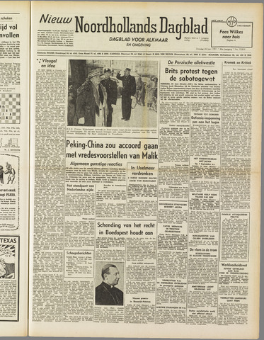 Nieuw Noordhollandsch Dagblad : voor Alkmaar en omgeving 1951-06-26