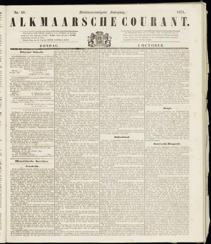 Alkmaarsche Courant 1871-10-01