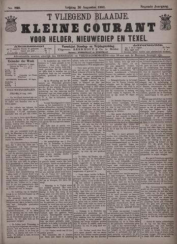 Vliegend blaadje : nieuws- en advertentiebode voor Den Helder 1881-08-26