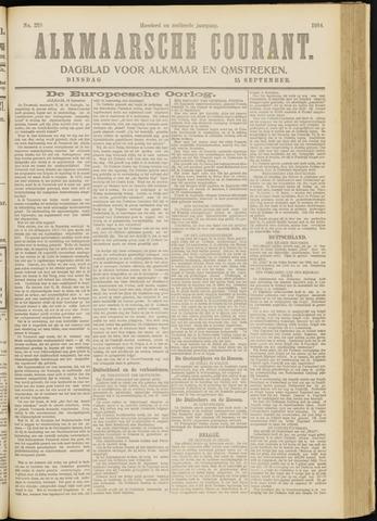 Alkmaarsche Courant 1914-09-15