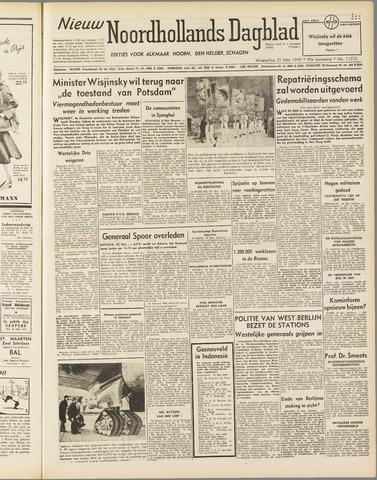 Nieuw Noordhollandsch Dagblad : voor Alkmaar en omgeving 1949-05-25