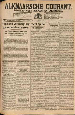 Alkmaarsche Courant 1939-11-15