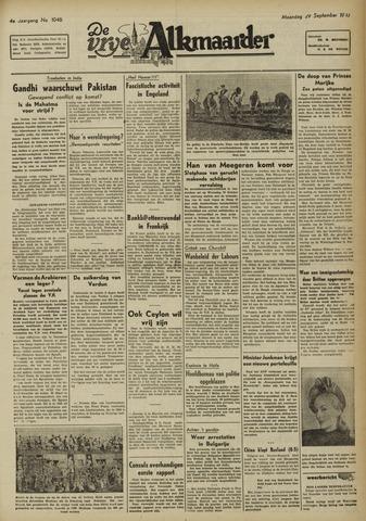 De Vrije Alkmaarder 1947-09-29