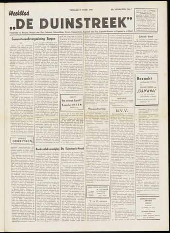 De Duinstreek 1956-02-17
