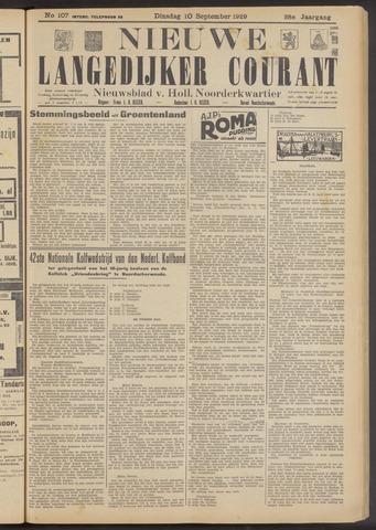 Nieuwe Langedijker Courant 1929-09-10