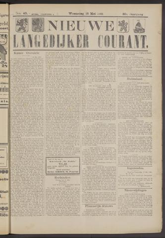Nieuwe Langedijker Courant 1921-05-18
