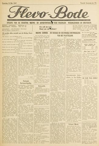 Flevo-bode: nieuwsblad voor Wieringen-Wieringermeer 1947-05-31