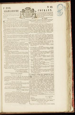 Alkmaarsche Courant 1848-04-10