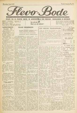 Flevo-bode: nieuwsblad voor Wieringen-Wieringermeer 1947-04-02