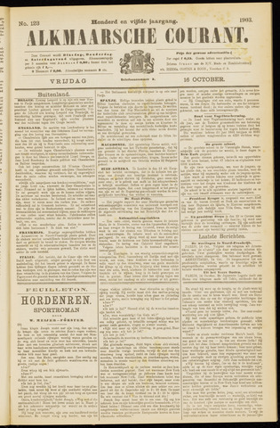 Alkmaarsche Courant 1903-10-16