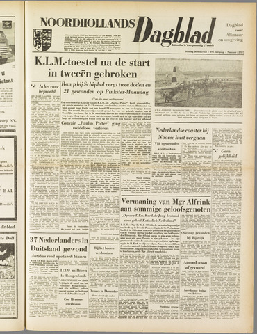 Noordhollands Dagblad : dagblad voor Alkmaar en omgeving 1953-05-26