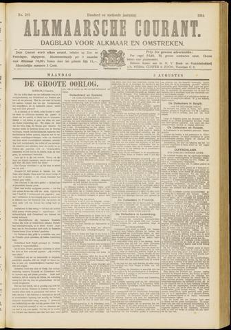 Alkmaarsche Courant 1914-08-03
