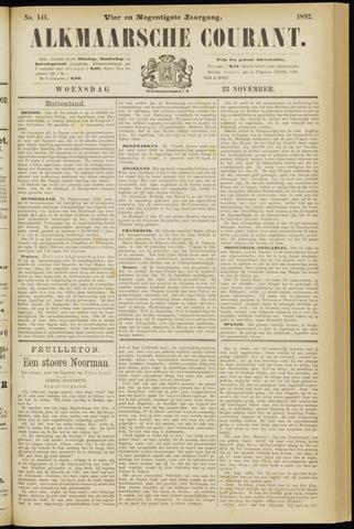 Alkmaarsche Courant 1892-11-23