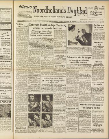 Nieuw Noordhollandsch Dagblad : voor Alkmaar en omgeving 1950-09-04