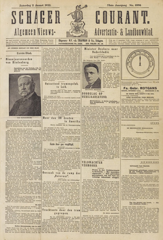 Schager Courant 1932