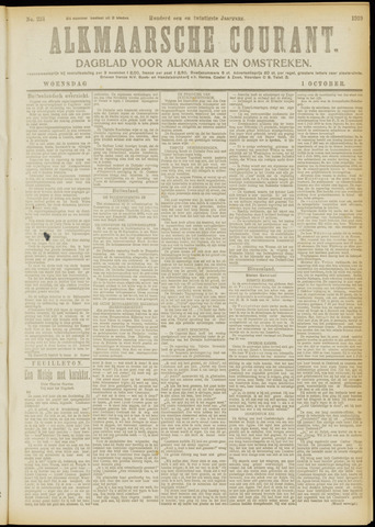 Alkmaarsche Courant 1919-10-01