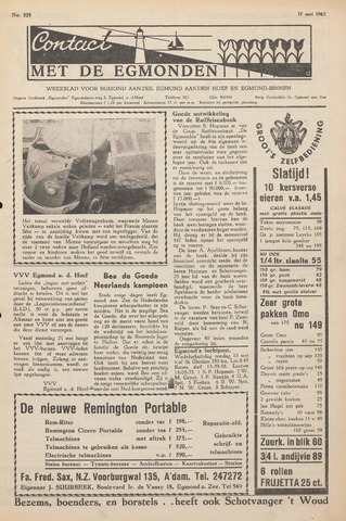 Contact met de Egmonden 1962-05-17
