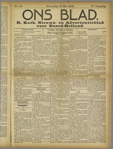 Ons Blad : katholiek nieuwsblad voor N-H 1908-05-27