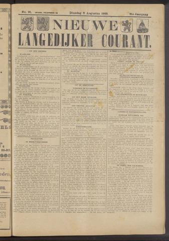 Nieuwe Langedijker Courant 1922-08-08
