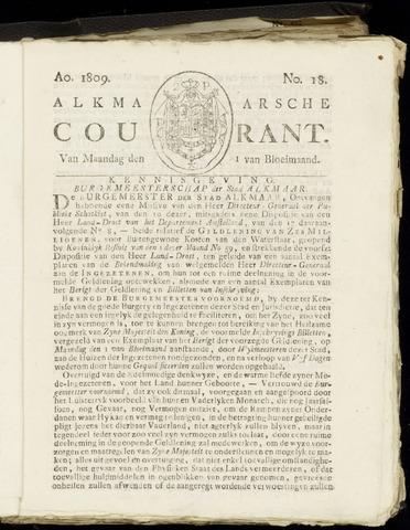 Alkmaarsche Courant 1809-05-01