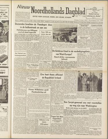 Nieuw Noordhollandsch Dagblad : voor Alkmaar en omgeving 1949-04-19