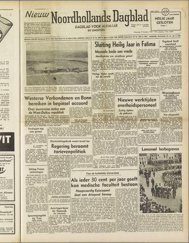 Nieuw Noordhollandsch Dagblad : voor Alkmaar en omgeving 1951-10-15