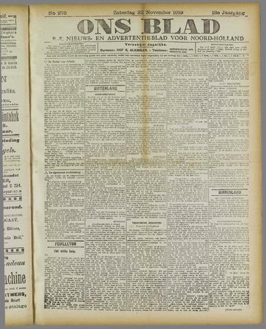 Ons Blad : katholiek nieuwsblad voor N-H 1919-11-22