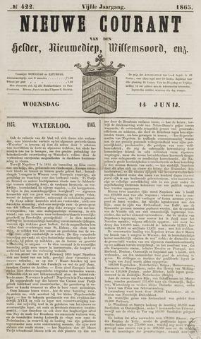 Nieuwe Courant van Den Helder 1865-06-14