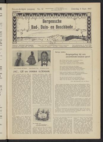 Bergensche bad-, duin- en boschbode 1947-09-06