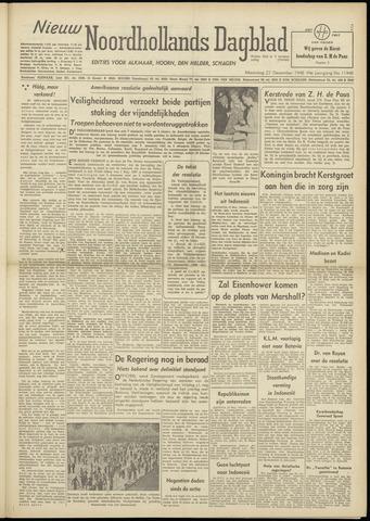 Nieuw Noordhollandsch Dagblad : voor Alkmaar en omgeving 1948-12-27