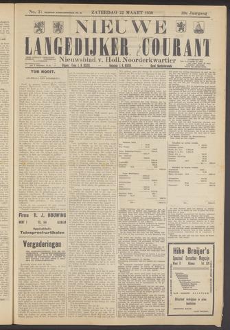 Nieuwe Langedijker Courant 1930-03-22