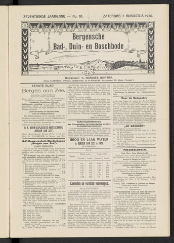 Bergensche bad-, duin- en boschbode 1926-08-07
