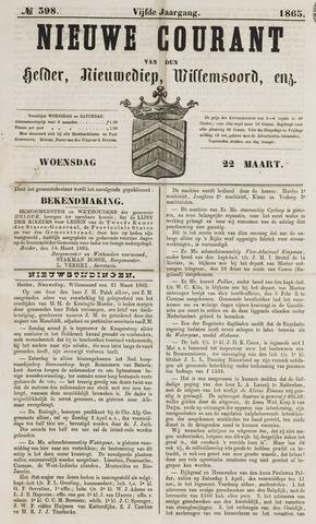 Nieuwe Courant van Den Helder 1865-03-22