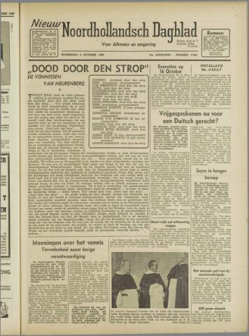 Nieuw Noordhollandsch Dagblad : voor Alkmaar en omgeving 1946-10-02