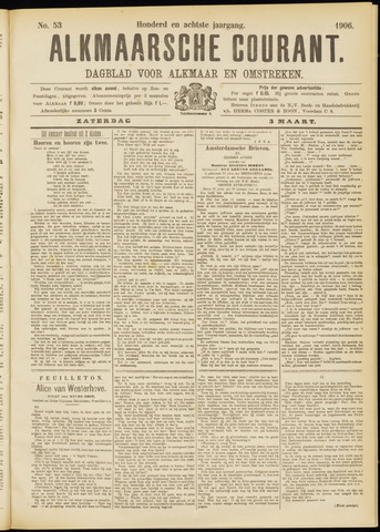 Alkmaarsche Courant 1906-03-03