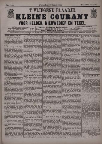 Vliegend blaadje : nieuws- en advertentiebode voor Den Helder 1884-03-12