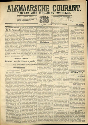 Alkmaarsche Courant 1933-03-30
