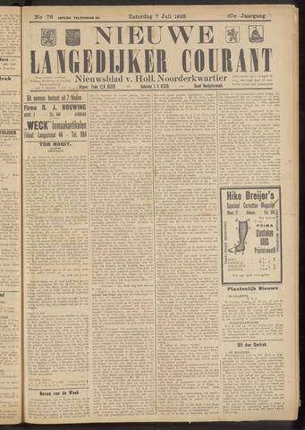 Nieuwe Langedijker Courant 1928-07-07