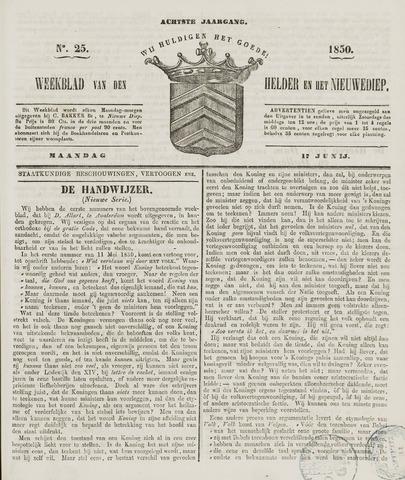 Weekblad van Den Helder en het Nieuwediep 1850-06-17