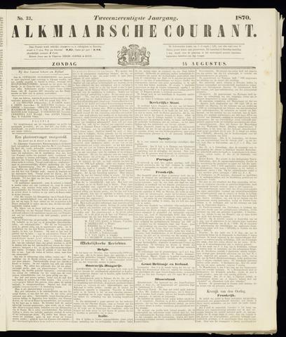 Alkmaarsche Courant 1870-08-14