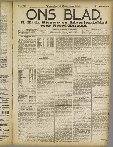 Ons Blad : katholiek nieuwsblad voor N-H 1911-09-13